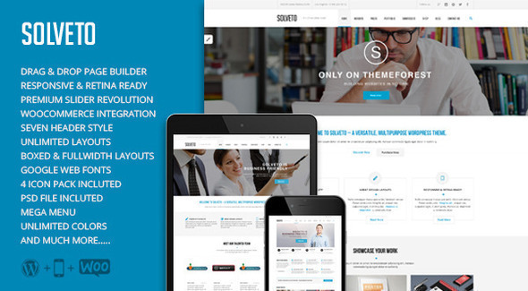 Solveto - Multi Purpose Business Theme