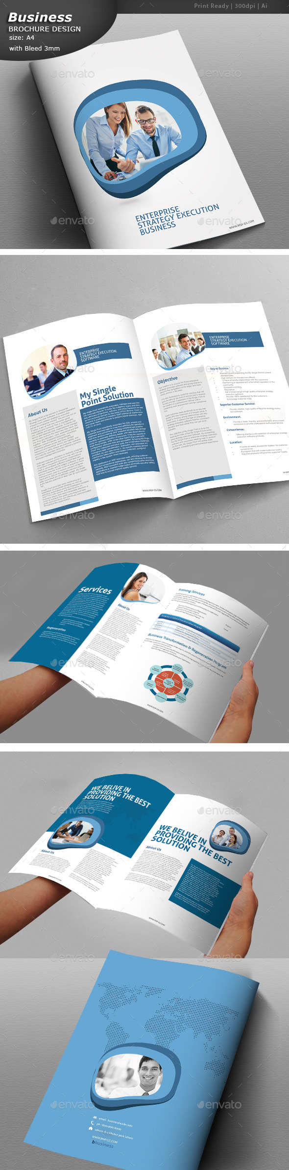 GraphicRiver Clean Business Brochure 11421720