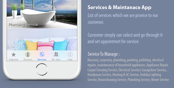 CodeCanyon ServPro Maintenance Service App 11422244