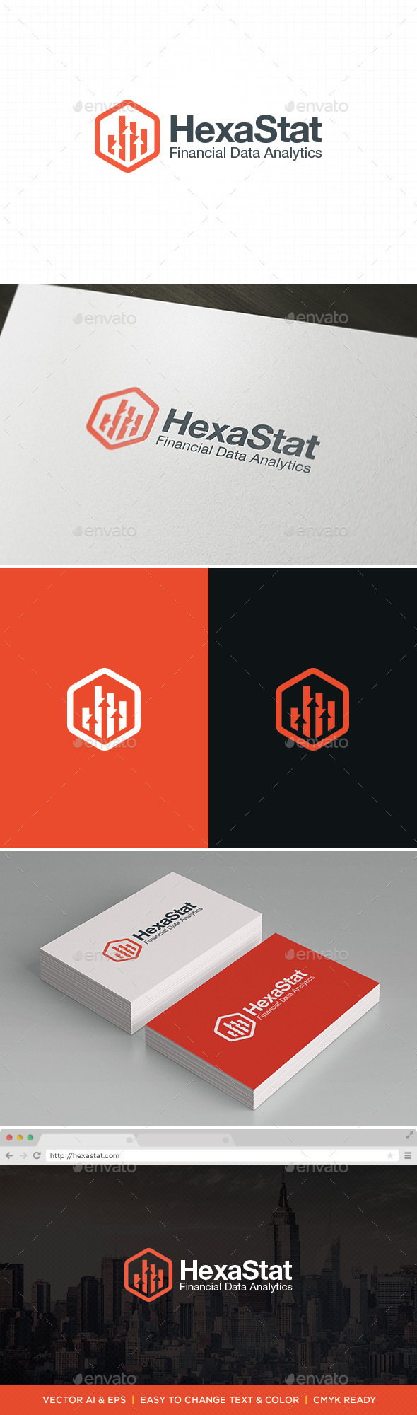 GraphicRiver HexaStat Logo 11422471