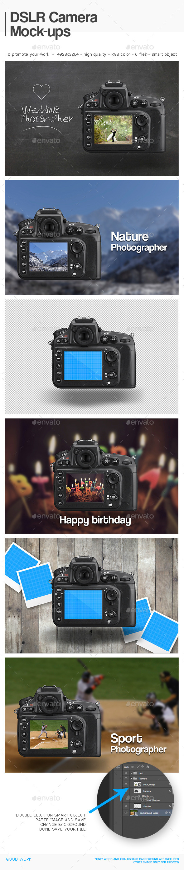 GraphicRiver DSLR Camera Mock-ups 11422564