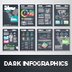 Dark Infographic Brochure Vector Elements Kit 1 - GraphicRiver Item for Sale