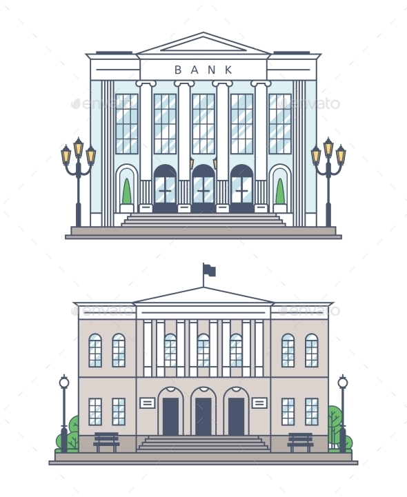 GraphicRiver Bank and Administration Building 11423238