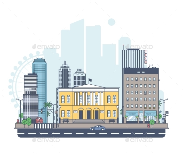 GraphicRiver Panorama of the City 11423249