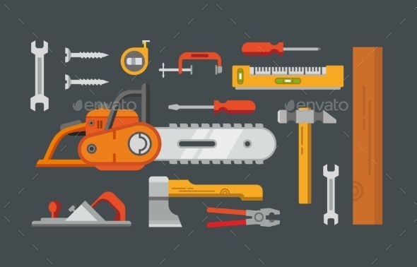 GraphicRiver Construction Tools Objects 11423252