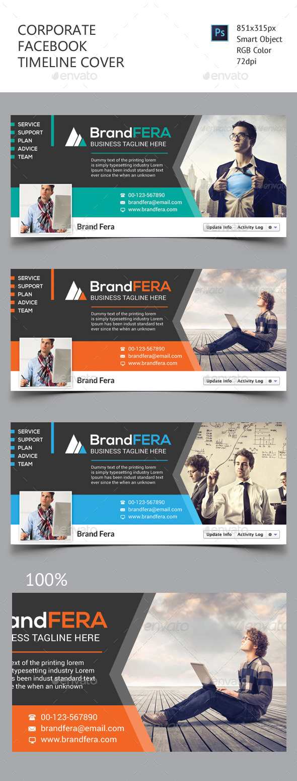 GraphicRiver Corporate Facebook Timeline Cover 11423263