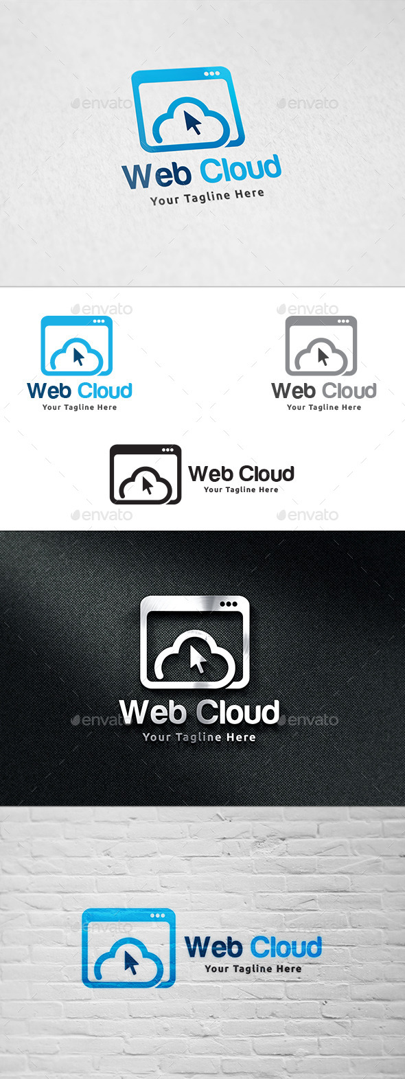 GraphicRiver Web Cloud Logo Template 11423270
