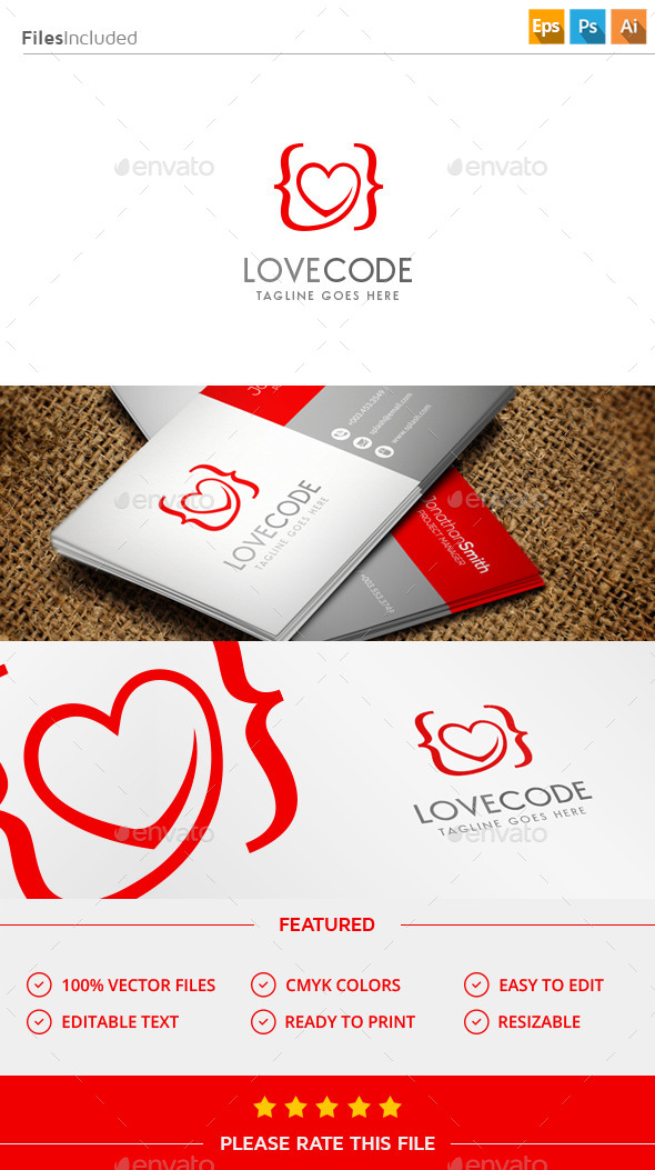 GraphicRiver Love Code Logo 11423284