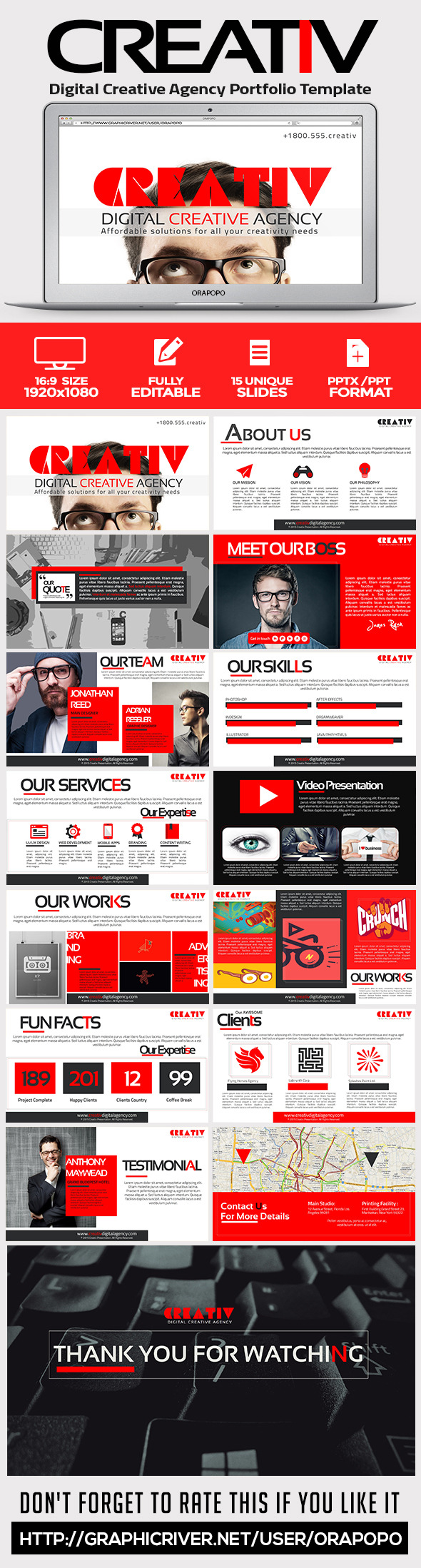 GraphicRiver Creativ Digital Creative Agency Portfolio Template 11402738