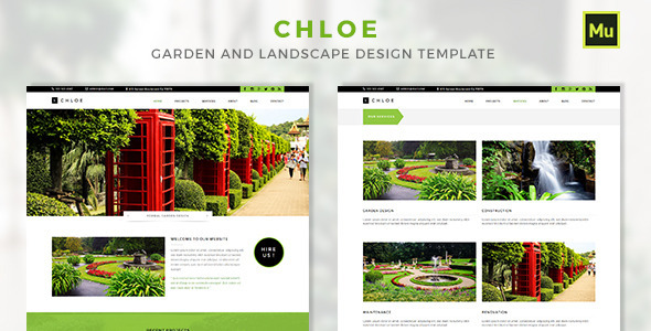 ThemeForest Chloe Garden and Landscape Design Template 11423463