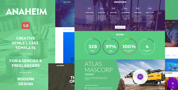Anaheim | Creative HTML Template (Creative) Download