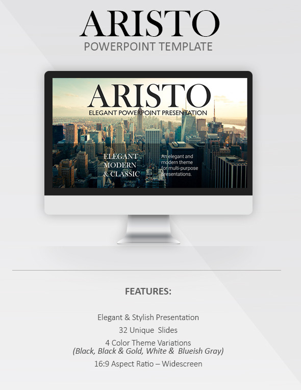 GraphicRiver Aristo Elegant PowerPoint Template 11423488