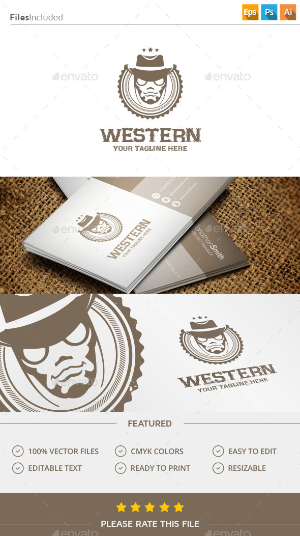 GraphicRiver Cowboy Logo 11423782