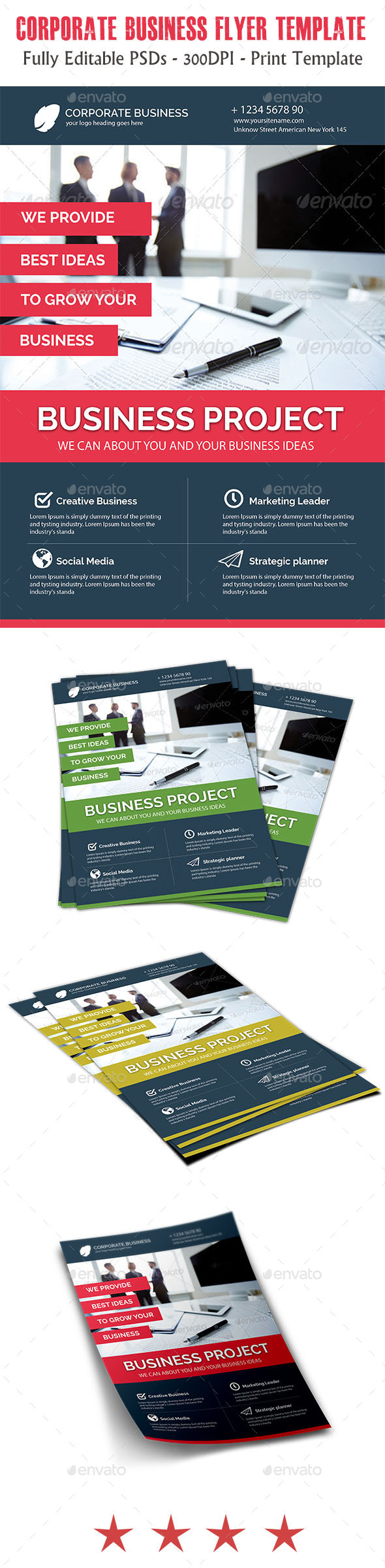 GraphicRiver Business Corporate Flyer 11423890