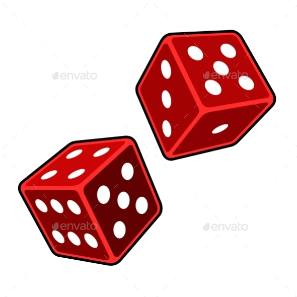 GraphicRiver Red Dice 11423981