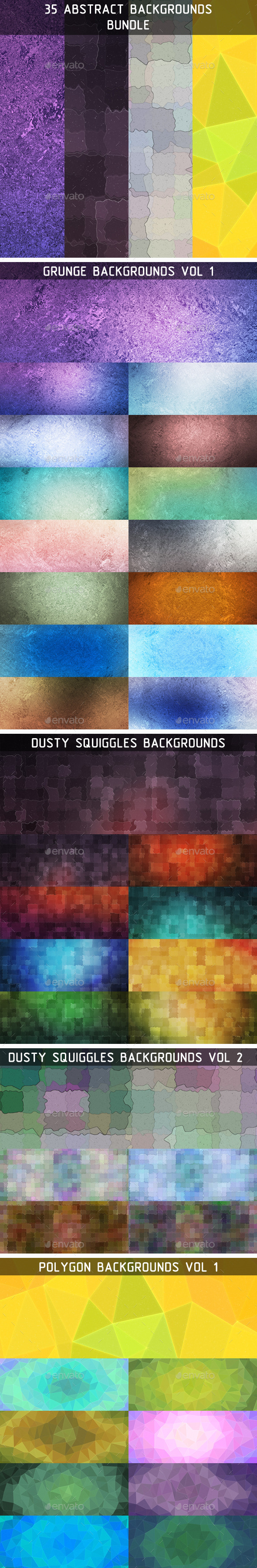GraphicRiver 35 Abstract Backgrounds Bundle 11424036