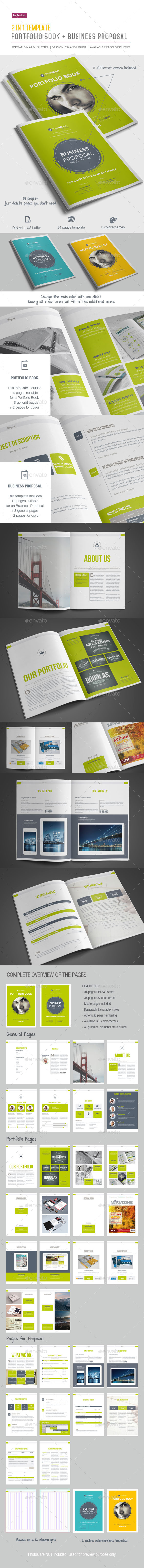 GraphicRiver 2-in-1 Template Portfolio Book & Proposal 11424113
