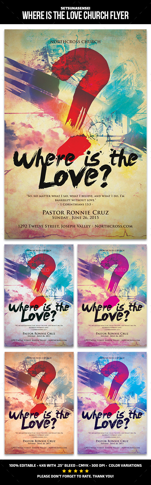 GraphicRiver Where Is the Love Church Flyer 11424274