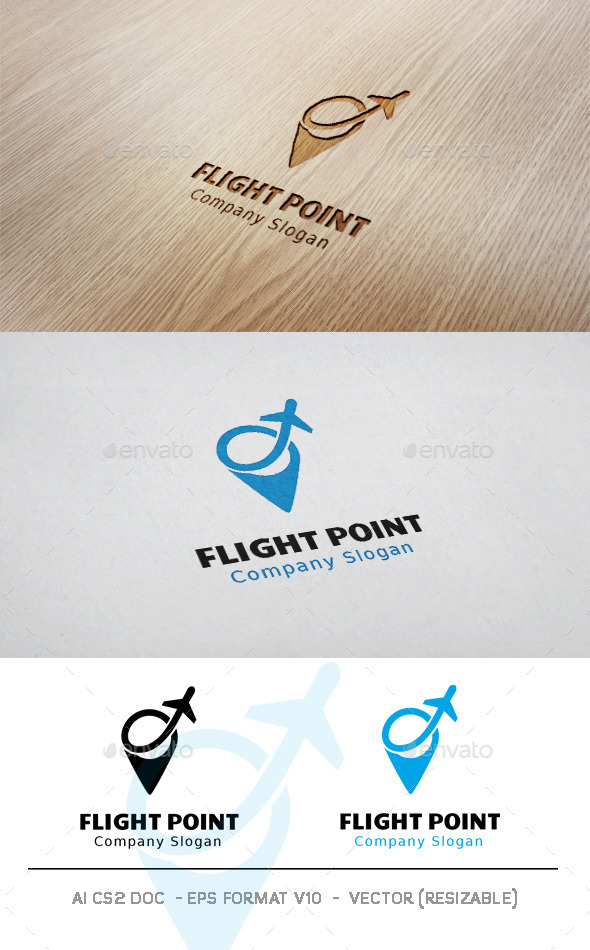GraphicRiver Flight Point Logo 11424324