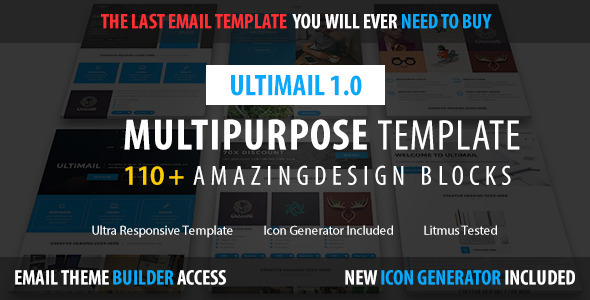 ThemeForest UltiMail Multipurpose Email & Builder Access 11424329