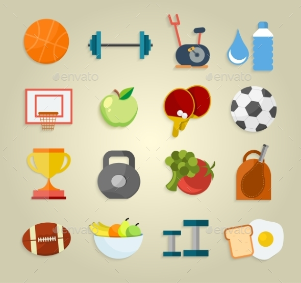 GraphicRiver Set of Sport Icons 11424353