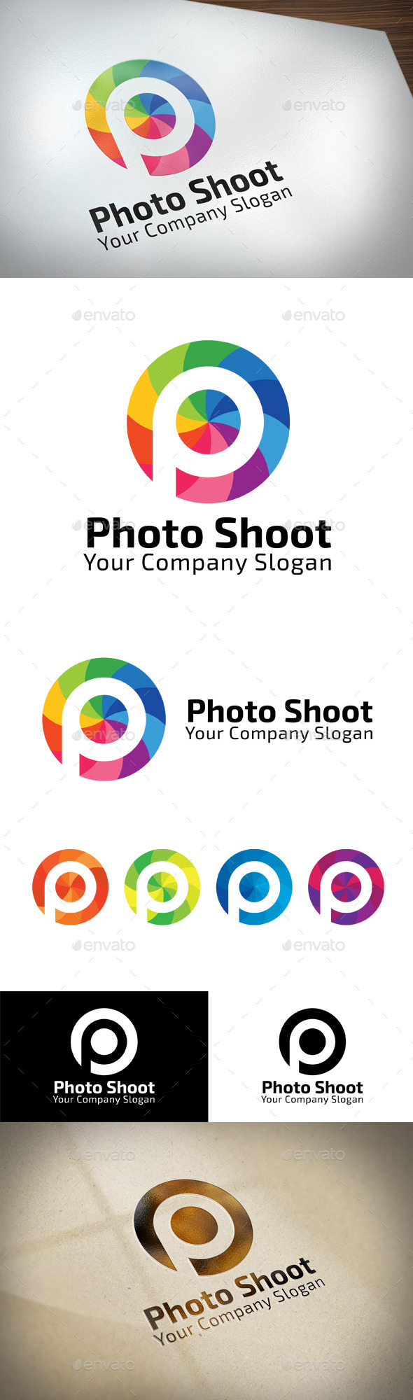 GraphicRiver Photo Shoot P Letter Logo 11424455