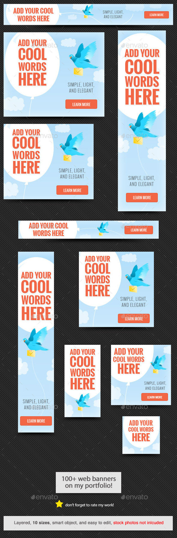 GraphicRiver Fly Sky Web Banner Template 11424481