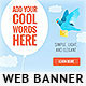 Fly Sky Web Banner Template - GraphicRiver Item for Sale