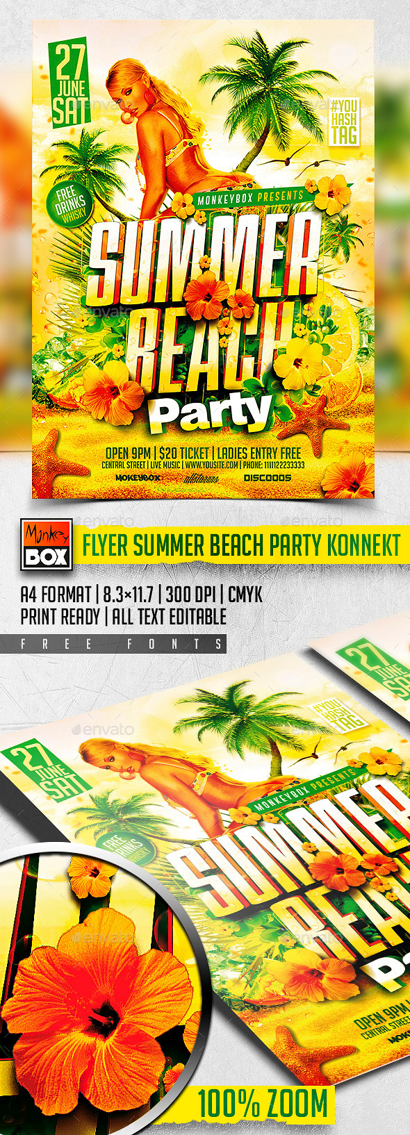 GraphicRiver Flyer Summer Beach Party Konnekt 11424509