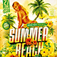 Flyer Summer Beach Party Konnekt - GraphicRiver Item for Sale