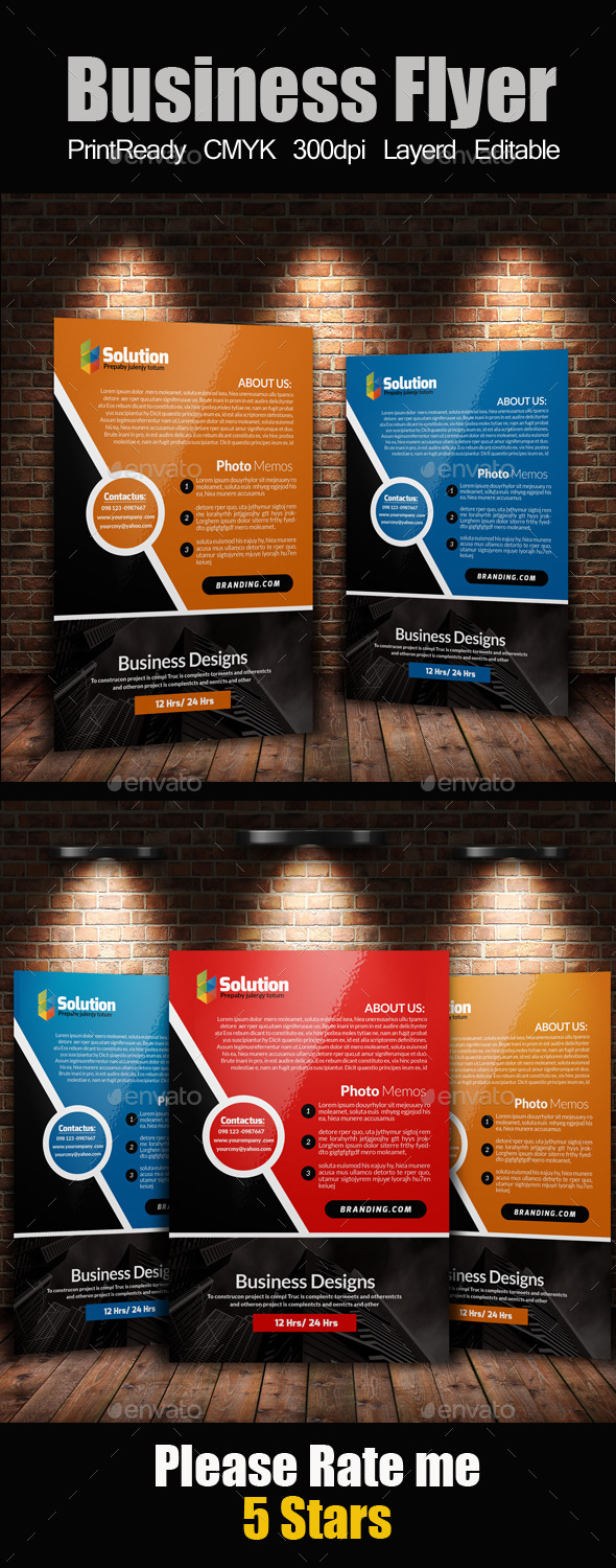 GraphicRiver A4 Business Flyer Template 11424603