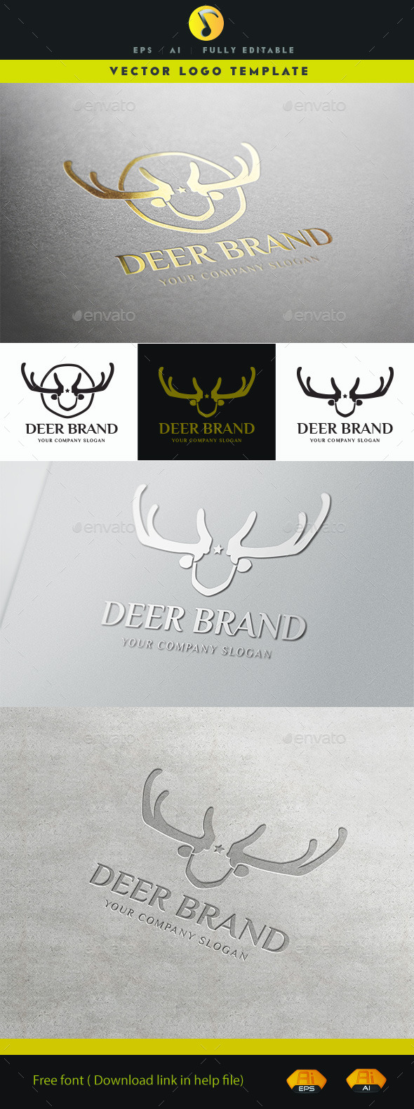 GraphicRiver Deer Brand 11424636
