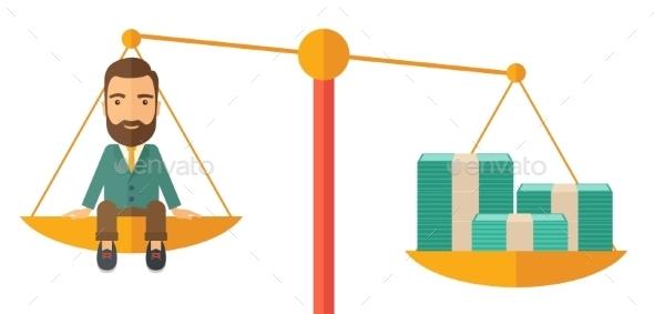 GraphicRiver Businessman on a Balance Scale 11424793