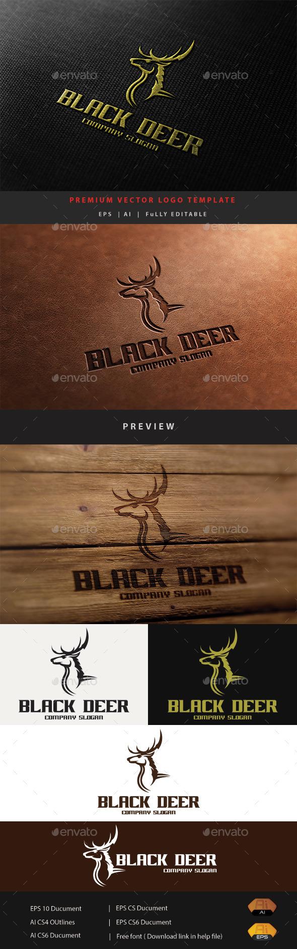 GraphicRiver Black Deer 11424832