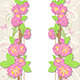 Floral Card with Peach Flowers - GraphicRiver Item for Sale