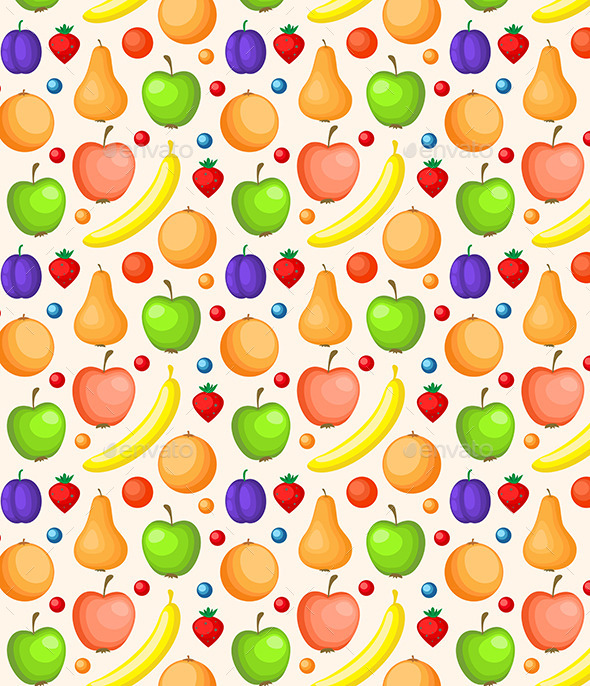 GraphicRiver Seamless Pattern with Ripe Fruit 11425157