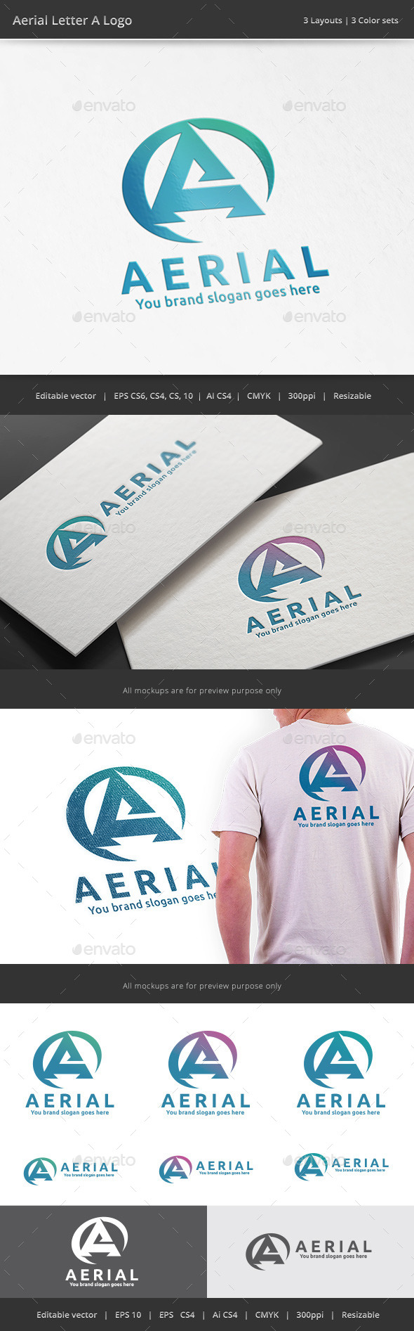 GraphicRiver Aerial Letter A Logo 11425426
