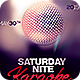 Saturday Night Karaoke - GraphicRiver Item for Sale