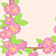 Frame with Pink Peach Flowers - GraphicRiver Item for Sale