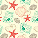 Seamless Pattern with Sea Shells - GraphicRiver Item for Sale