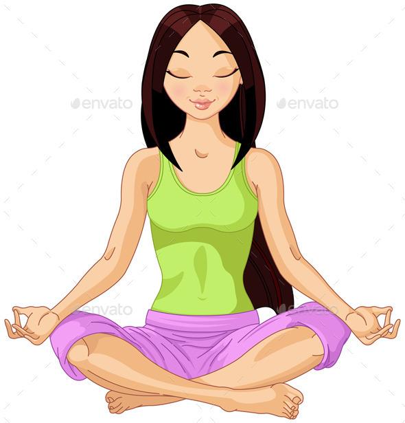 GraphicRiver Asian Yoga Girl 11426015