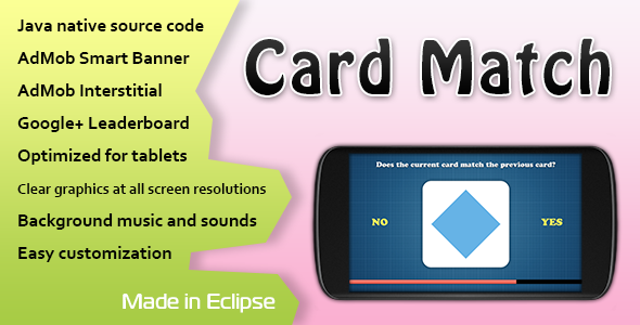 CodeCanyon Card Match Game with AdMob and Leaderboard 11426131