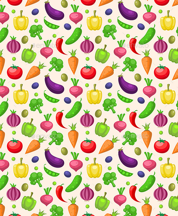 GraphicRiver Seamless Pattern with Vegetables 11426162