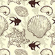 Seamless Pattern with Sea Shells and Fishes - GraphicRiver Item for Sale