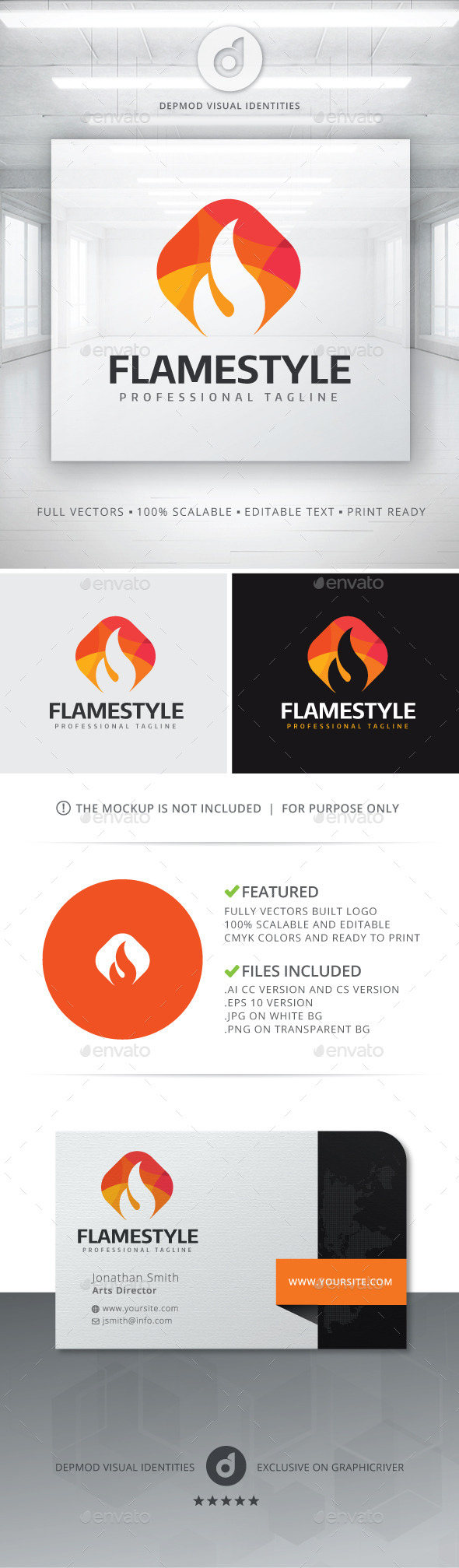 GraphicRiver Flame Style Logo 11426244