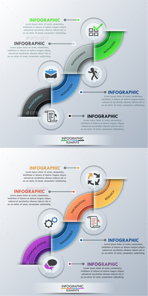 GraphicRiver Modern Infographic Options Template 2 Colors 11426255