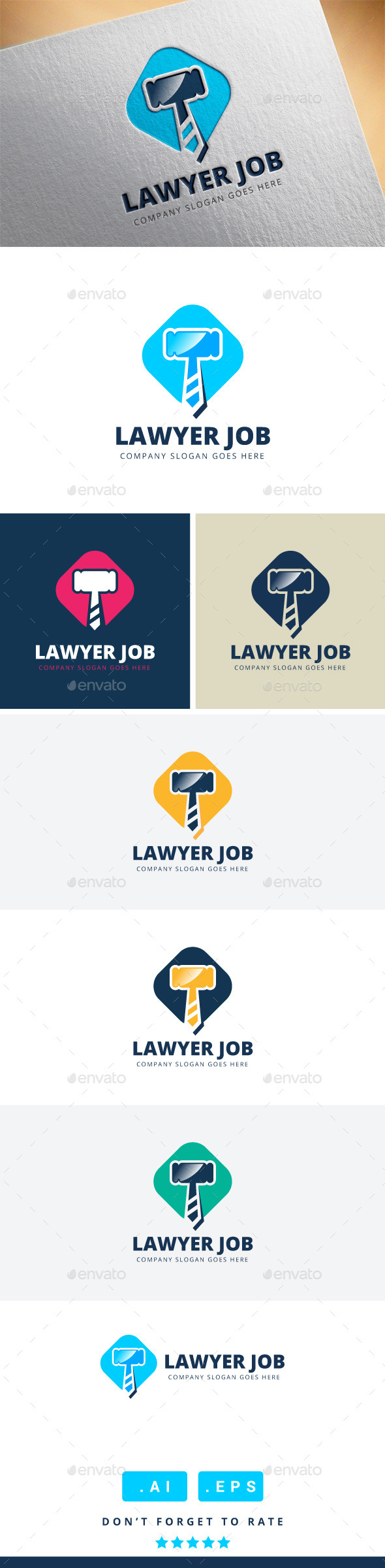 GraphicRiver Lawyer Job Logo 11426296