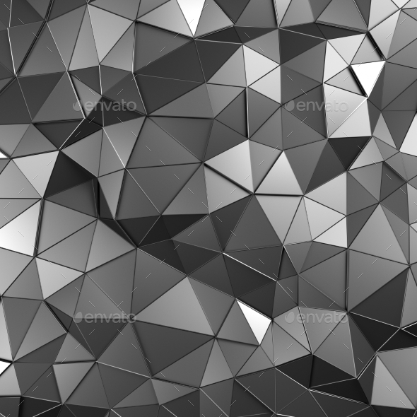 GraphicRiver Abstract 3D Rendering Of Low Poly Metal Surface 11426379