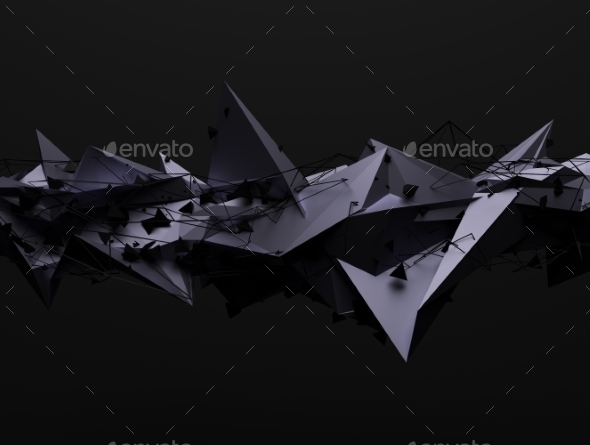 GraphicRiver Abstract 3D Rendering Of Chaotic Structure 11426386