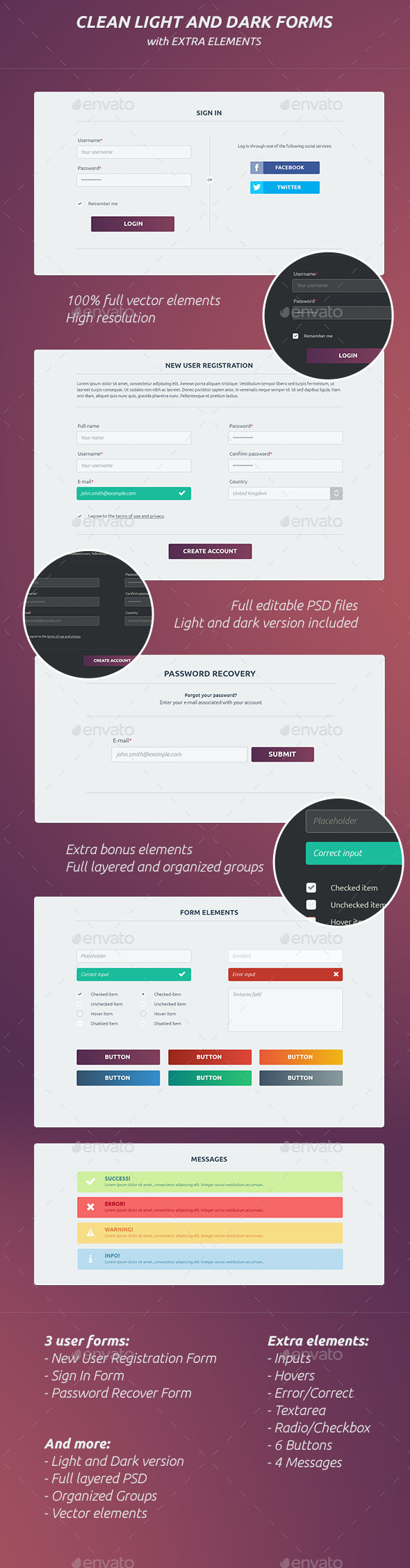user registration and login graphics designs templates